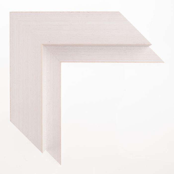 Houten lijst - - BAKLIJST III - Wit gewassen baklijst 47 mm