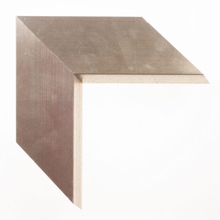 Houten lijst -- ESSENTIAL I - Zilver pyramide breed breed 80 mm