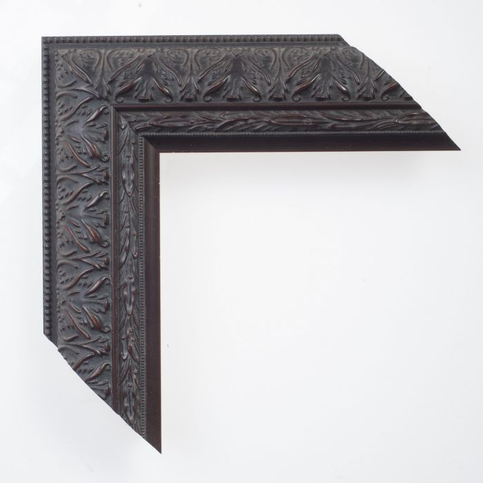Houten lijst -  IMPERIAL - Ornament zwart breed breed 62 mm