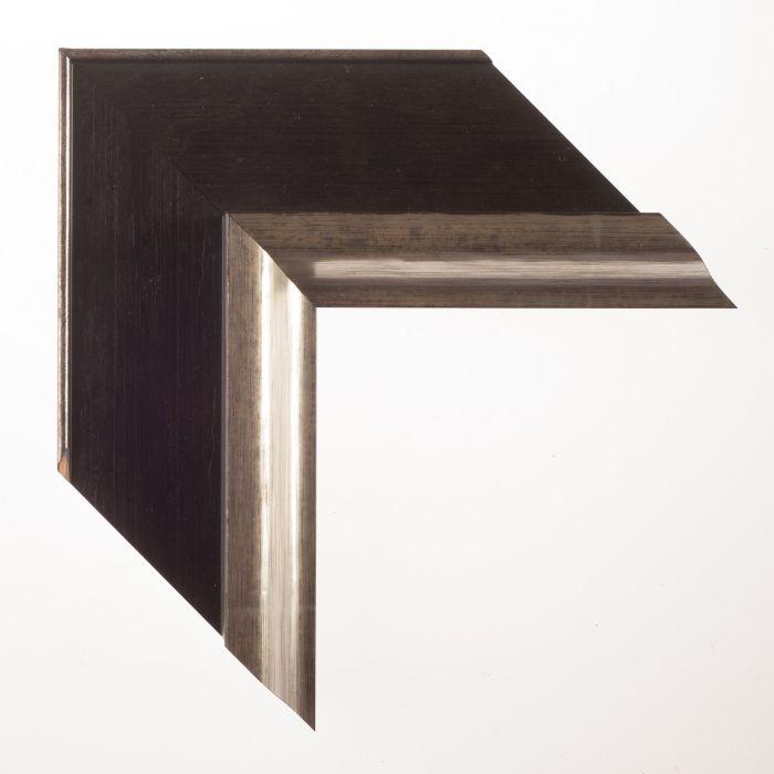 Houten lijst - - LUCERNE - Zwart zilver  breed 93 mm