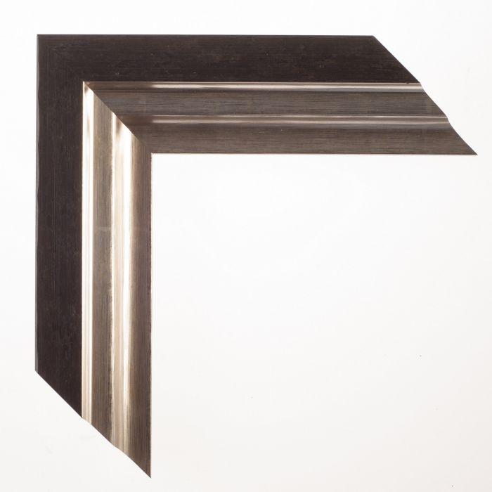 Houten lijst - LUCERNE - Zwart zilver