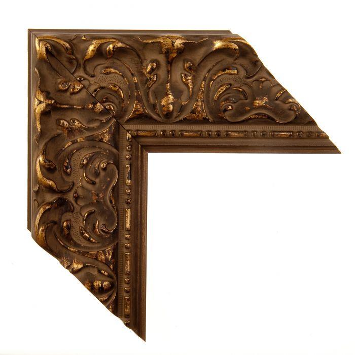 Houten lijst - PRAGUE - Donker goud breed  93 mm