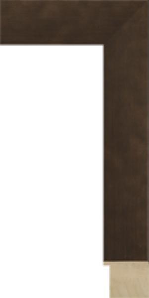 Houten lijst op maat zilver-ijzer breed 45 mm