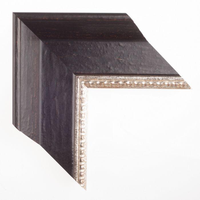 Klassiek zwart zilver breed 105