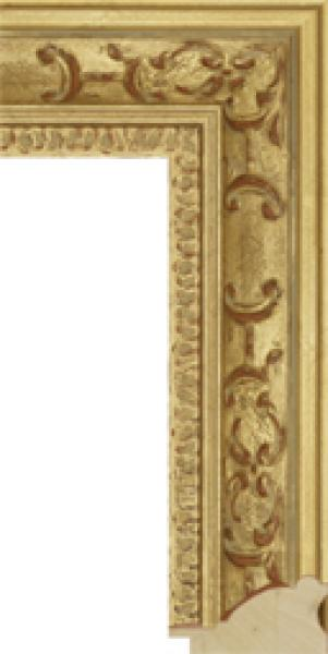 Houten lijst - - CHATEAU - Louis XIV gold  breed 73 mm