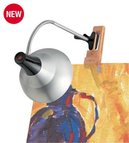 Daylight lamp voor schilders ezel aluminium zwart