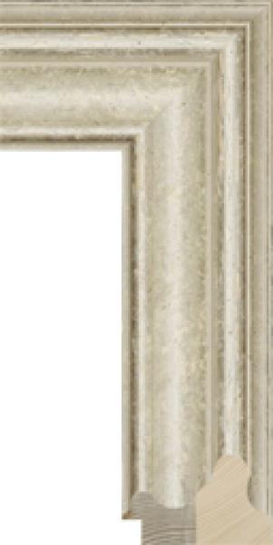 Klassiek schilderijlijst op maat wit breed 80 mm