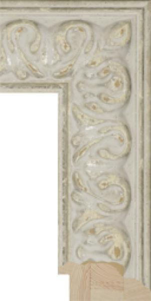 Houten lijst - - SEVILLA - White ornament large breed 87 mm