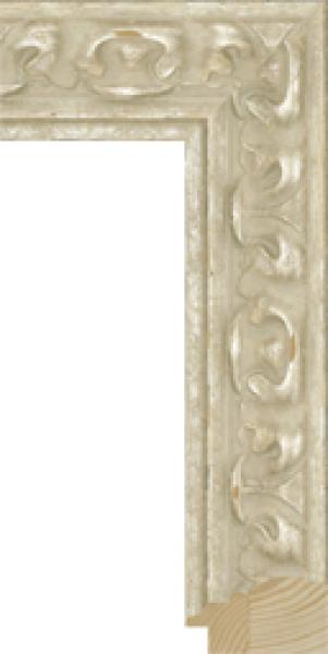 Houten lijst - - SEVILLA - White ornament breed 65 mm