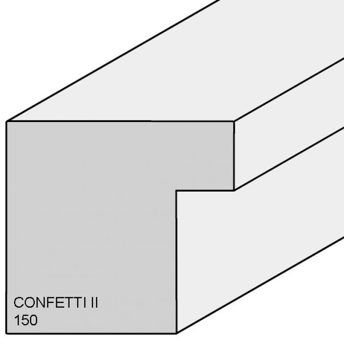 Houten lijst -  CONFETTI II - Fuchsia Cube