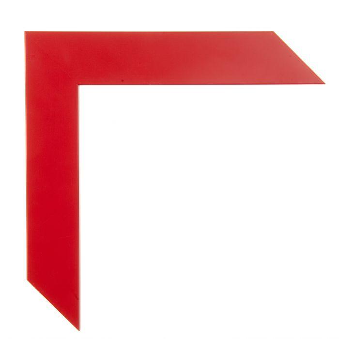 Houten lijst - CONFETTI II - Red Cube  rood