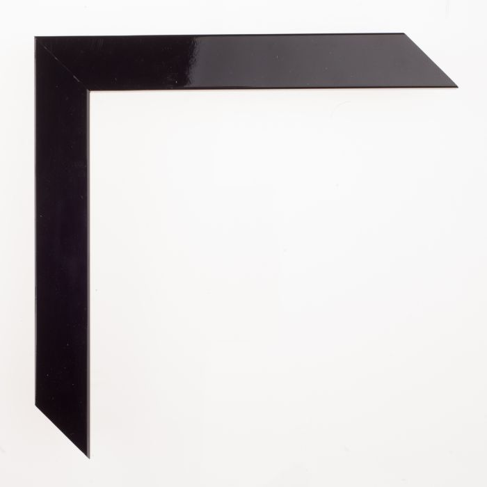 Houten lijst - - CONFETTI III - Black highgloss breed 23 mm