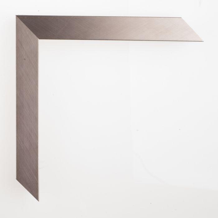 Houten lijst -  - GRAMERCY II - Brushed silver zilver 22 mm