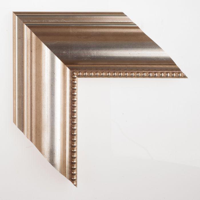 Houten lijst -  ORNAMENT - Zilver kraal 90 mm