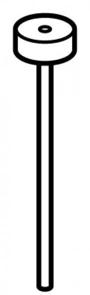 STAS j-rail perlon koord met disk 100 cm T/M 300 cm