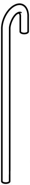 STAS j-rail stang 3 mm alu  100 cm/300cm gebogen top