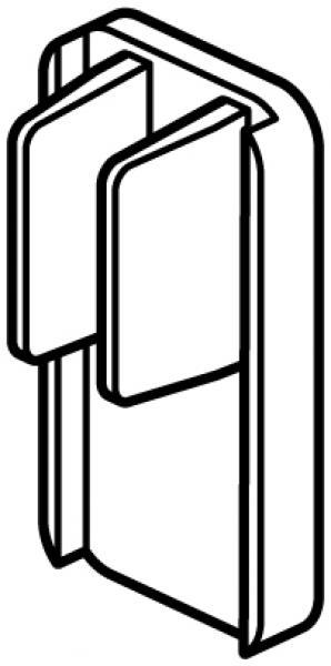 STAS cliprail pro / multirail eindkap wit