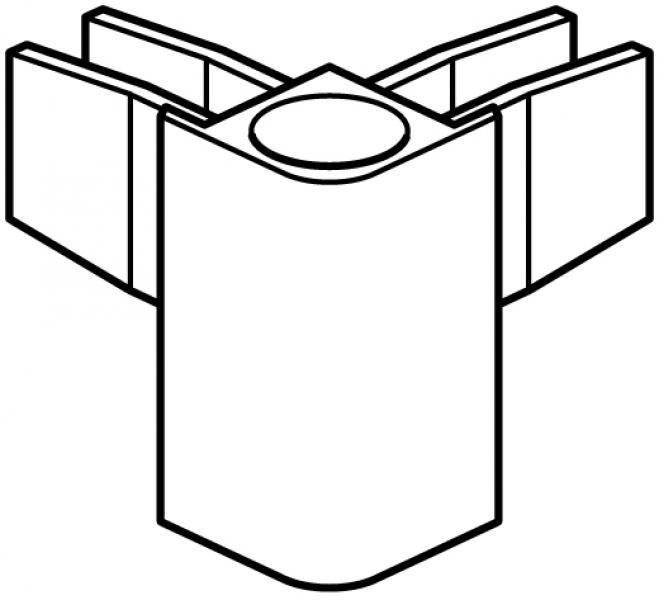 stas multirai/ cliprail pro hoekkap wit