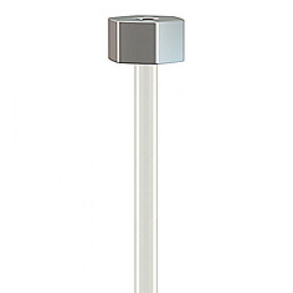 Perlon+glijder 2mm 150cm - 200 cm