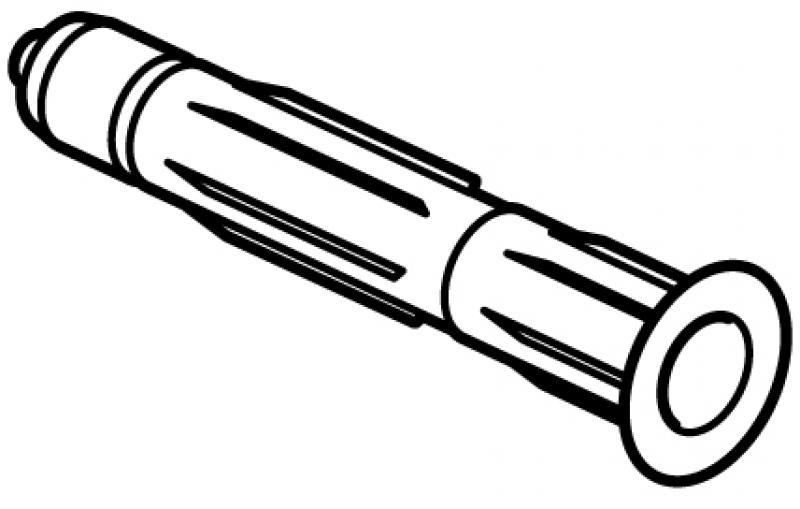 STAS Plug 6 mm voor zachte wand