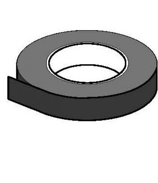 Spieraam plakband zwart