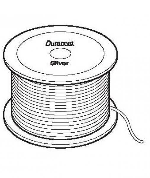 Staaldraad Duracoat-zilver 09 -3.1 mm knoopbaar