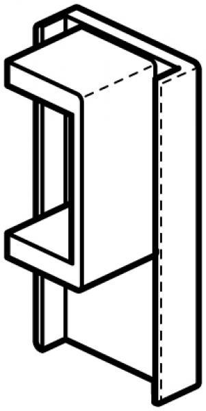 stas cliprail eindkap alu