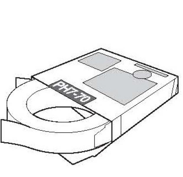 Zuurvrij plakband Merk UK Tape, type PH7-70.