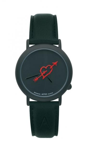 AKTEO HORLOGE CRAZY LOVE BLACK