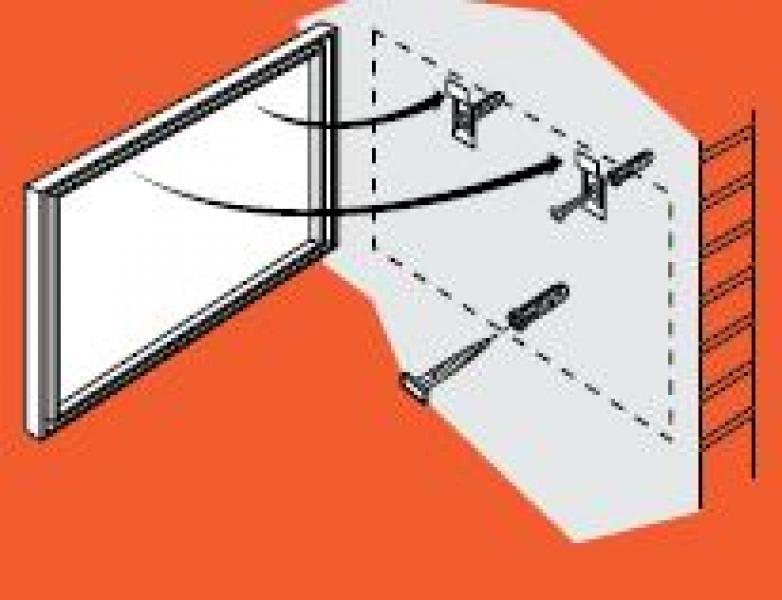 Antidiefstalsets voor aluminium lijsten.