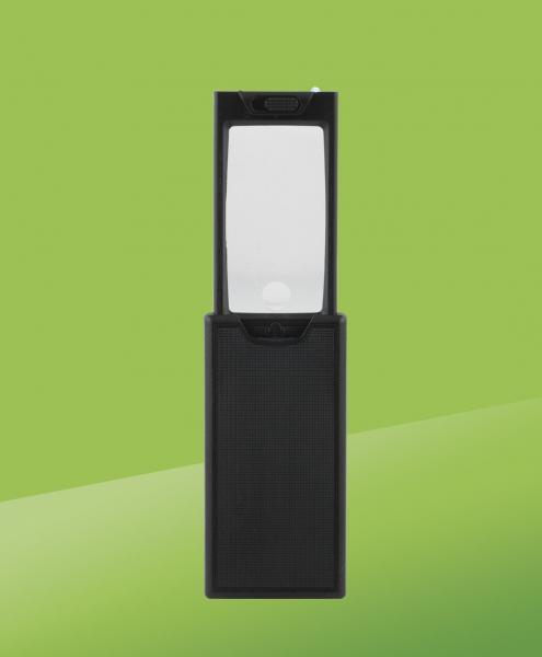 LED-vergrootglas, zakformaat, Zwart