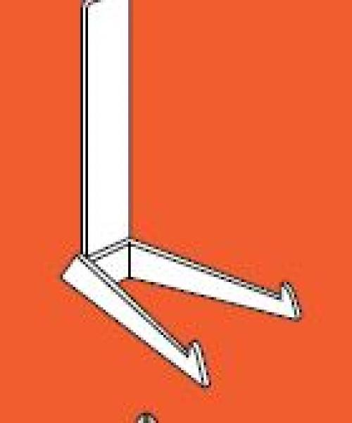 Moderne verticale staander transparant 14-20 cm per  3 stuks