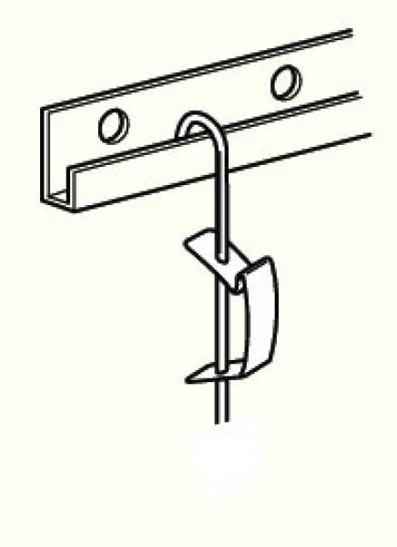 Ophangstang Roestvrij staal 200 cm  inclusief schuifveer