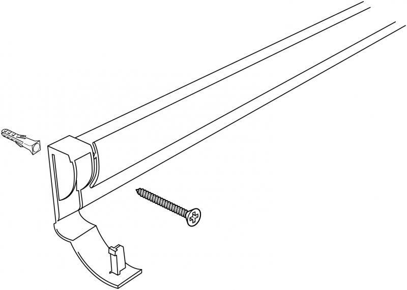 Stas papier rail (t.b.v wandmontage) wit