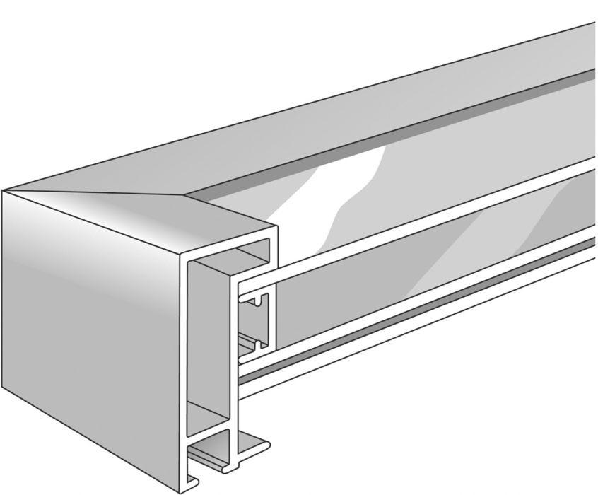 Aluminium lijst - NIELSEN - Profiel 222 - Zilver 222-003