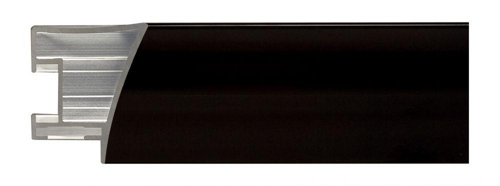 Aluminium lijst - NIELSEN - Profiel 225 - Jet Polished Black  225-016