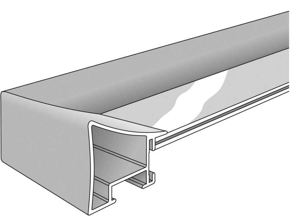 Aluminium lijst - NIELSEN - Profiel 225 - Polished Silver  225-003