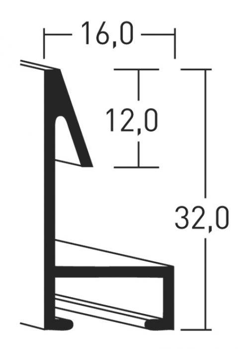 Aluminium lijst - NIELSEN - Profiel 272 - Mat geannod. Zwart 272-250