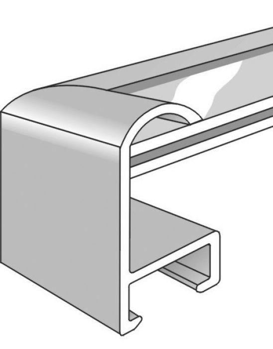 Aluminium lijst - NIELSEN - Profiel 71 - Mat Zilver  71-004