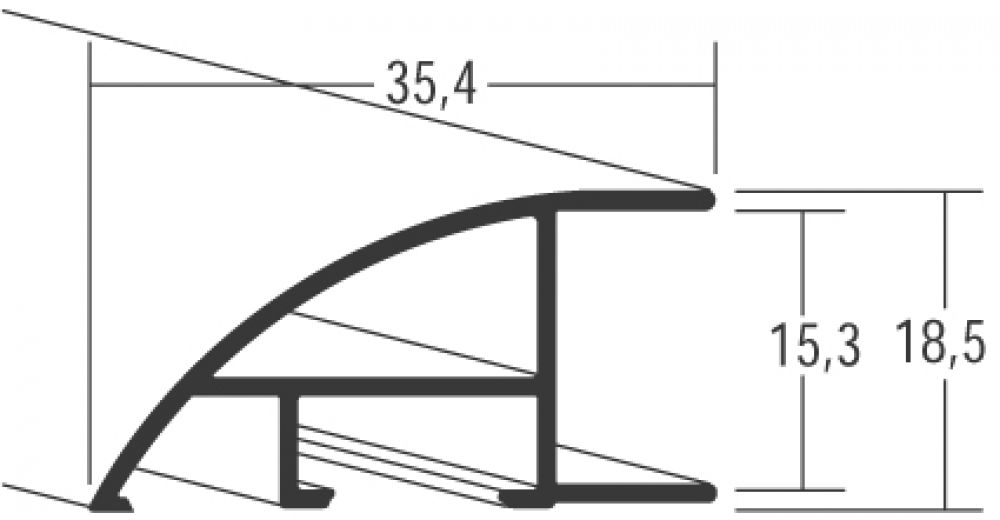 Aluminium lijst - NIELSEN - Profiel 87 - Goud Structuur 87-317