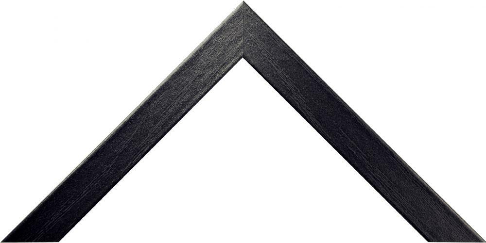 Barth aluminium wissellijst 1828 zwart essen(imitatie)fineer