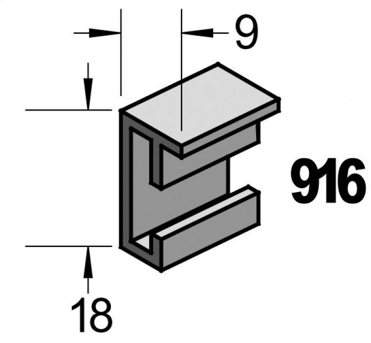 Barth aluminium wissellijst 916 Barthwood walnoten