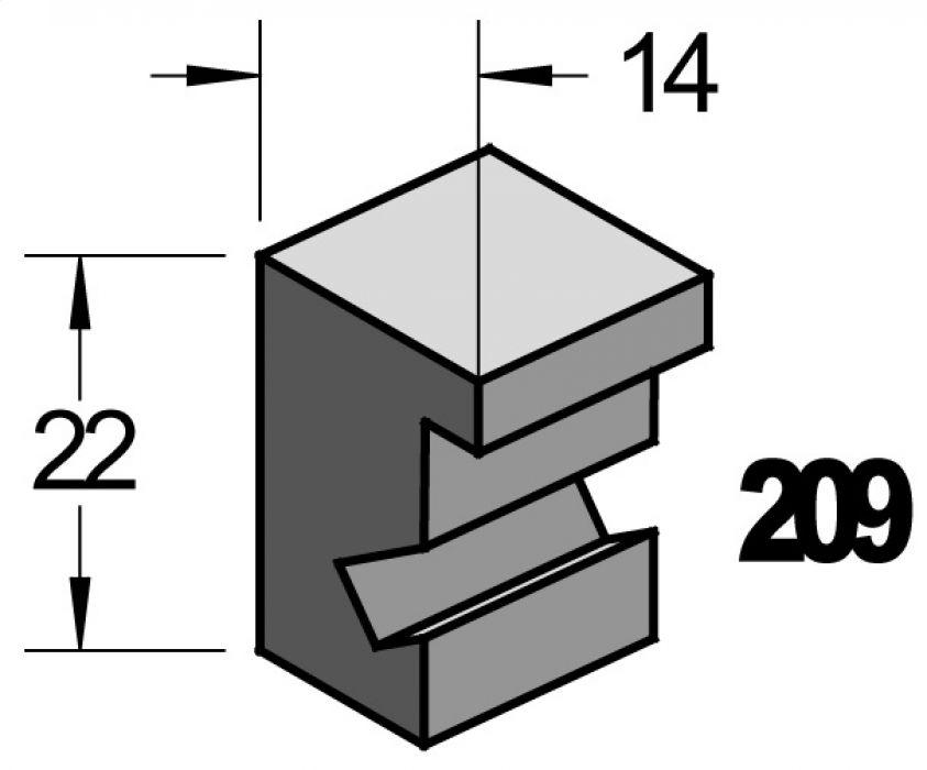 Barth wissellijst  hout serie 209 Populier(Yellow poplar)
