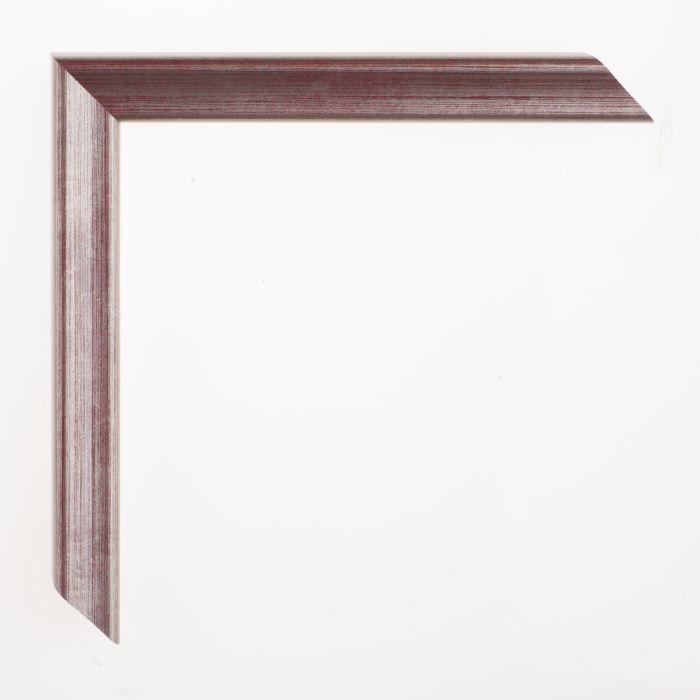 Houten lijst - Aicham - AMATI - Rood Zilver 19 mm