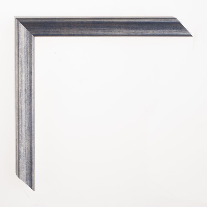 Houten lijst - Aicham - AMATI - Safierblauw Zilver 19 mm