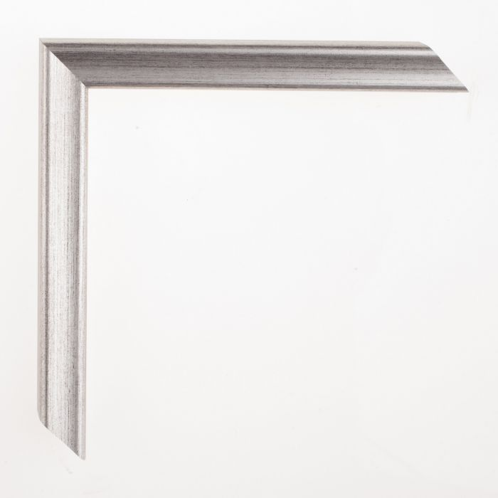 Houten lijst - Aicham - AMATI - Zilver Antractiet  19 mm