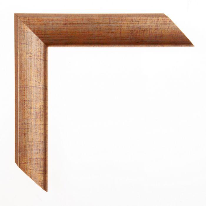 Houten lijst - Aicham - JAVA - Oranjebruin breed 32 mm