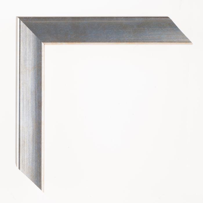 Houten lijst - Aicham - JOY - Blauw op zilver breed 30 mm