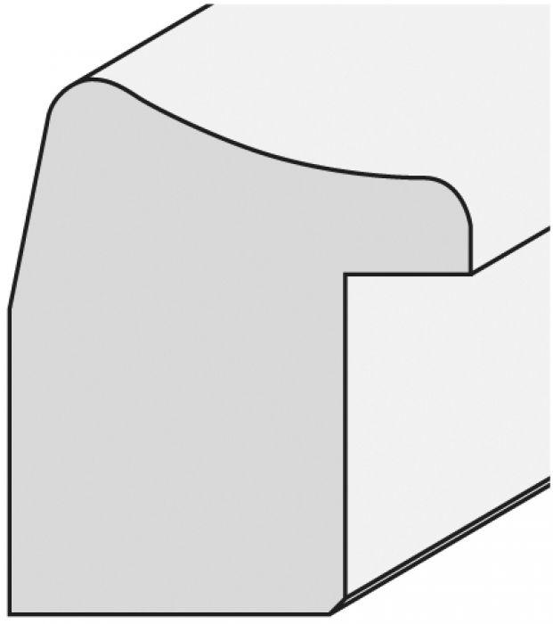 Houten lijst - Aicham - JOY - Groen op zilver breed 30 mm