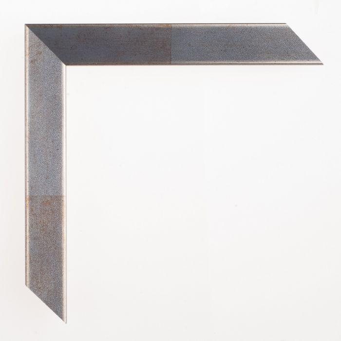Houten lijst - Aicham - SENTO II - Blauw op zilver 22 mm